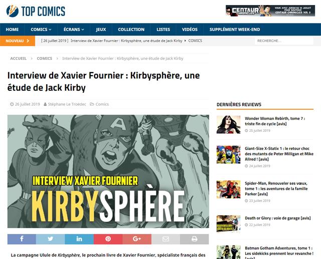 Interview audio sur le site Top Comics