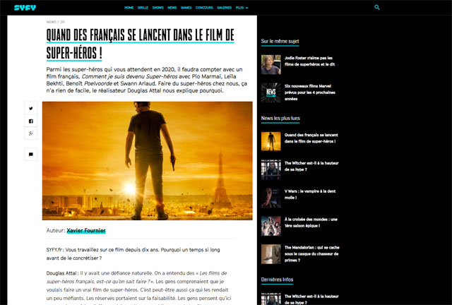Quand des français se lancent dans un film de super-héros !