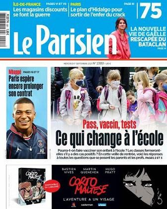 Interview dans le Parisien/Aujourd'hui en France (01/09/21)