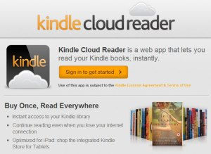 Le Kindle Cloud Reader: une liseuse qui a la tête dans les nuages....