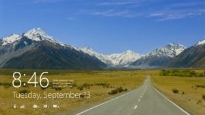 Microsoft Windows 8: l'écran de verrouillage.