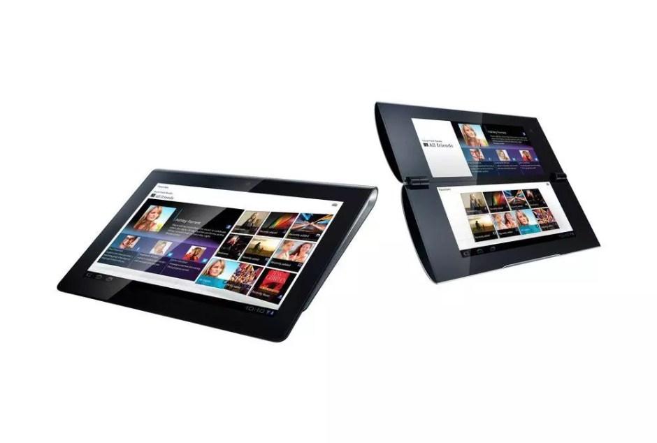 Les tablettes Sony P (à droite) et S.