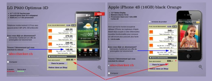 Optimus3D vs iPhone4S: un exemple de distorsion de concurrence?