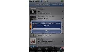 iOS: le bal des application non compatibles...