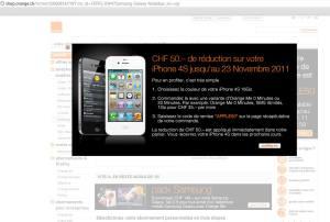 L'étrange promotion d'Orange sur la page du Samsung Galaxy Note en dit long...
