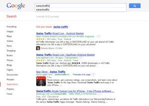 La recherche d'applications débarque sur Google.