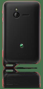 L'Xperia Active possède deux capots interchangeables: un blanc et un noir.