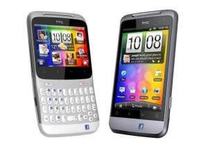 Les HTC Cha-Cha et Salsa avec leur touche Facebook.
