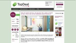 topdeal.ch: une offre par jour et par région.