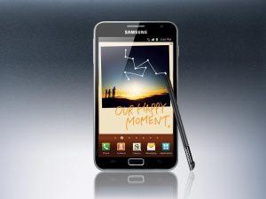 Le gigantesque Samsung Galaxy Note.