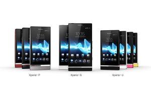 La gamme NXT de Sony Mobile: les Xperia P, S et U.
