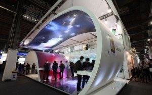 Le stand de Huawei lors du MWC 2012 de Barcelone.