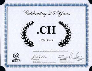 """Le """".ch"""" fête en ce mois de mai ses 25 ans."""