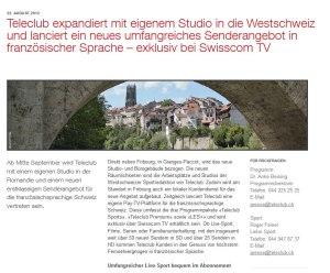 Teleclub ouvre un studio à Fribourg.