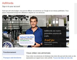 Le service Google AdWords.