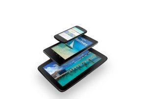 La gamme Nexus de Google: 4, 7 et 10 pouces.