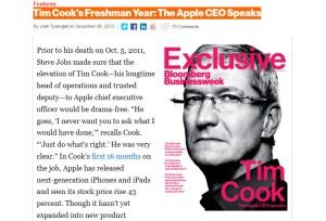 Tim Cook: l'entretien.