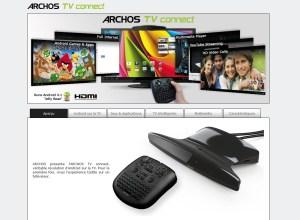 Avec l'Archos TV Connect: Android sur sa TV pour 129 euros.