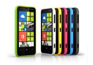 Les déclinaisons colorées du Nokia Lumia 620