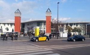 L'entrée principale du Mobile World Congress de Barcelone.