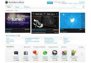BlackBerry World: 100'000 applications.