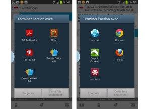 Choisir son application par défaut? Banal sur Android.