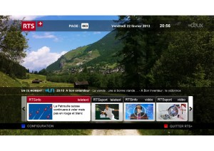 La RTS a lancé une offre pilote HbbTV.