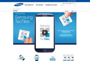 La technologie NFC TecTiles de Samsung.