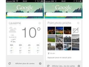 Google Now sur iPhone et iPad.