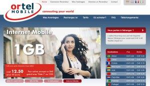 Ortel Mobile: le Go de données à 12,50 francs...