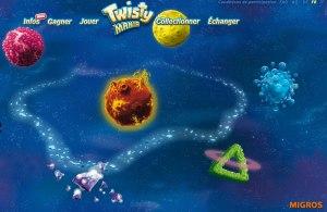 Le jeu Twistymania de la Migros.