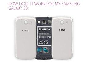 Le dos Zens pour recharger sans fil son Galaxy SIII.