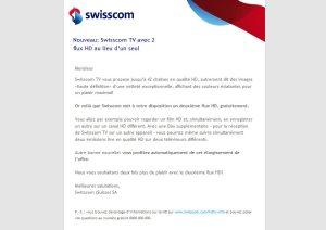 Swisscom me propose enfin un 2e flux HD...