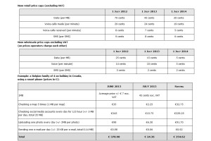 Eurotarifs: des chiffres très intéressants... Observez particulièrement les prix de gros...
