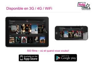 Les applications d'HollyStar pour smartphones.