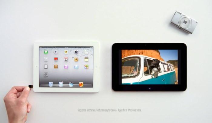 L'iPad n'a pas de logement pour insérer une carte SD.