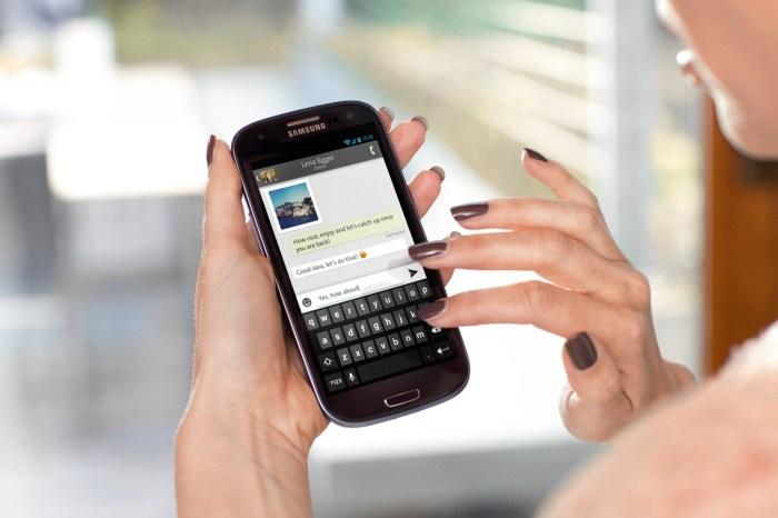 Swisscom iO sur unSamsung Galaxy S4.