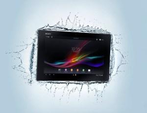 L'Xperia Tablet Z est étanche. Pratique pour la cuisine.