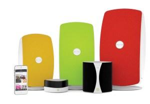 La famille Jongo de Pure: pour la musique en wi-fi partout.