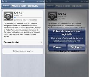 Téléchargement d'iOS 7: patience, patience...