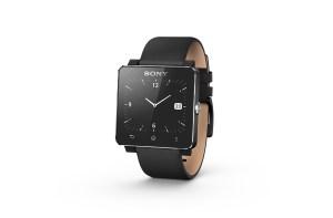 La smartwatch 2 de Sony, aussi disponible avec un bracelet cuir.