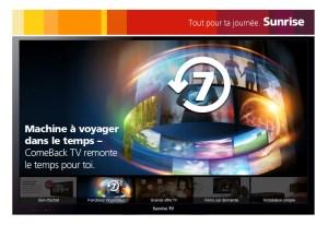 Sunrise lance la TV de rattrapage sur sept jours.