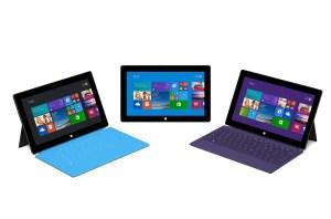 La famille Surface par Microsoft.