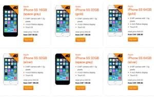 iPhone 5S en Suisse: quelques prix déjà chez Orange, toujours très réactif.