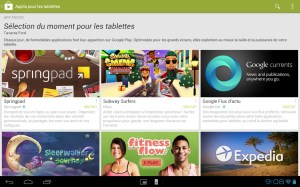 Google Play s'adapte enfin aux tablettes tactiles...