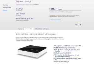 Un nouveau modem/routeur Swiscom pour le Gigabit internet.