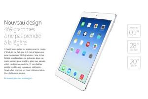 L'iPad Air ne manque pas d'arguments.