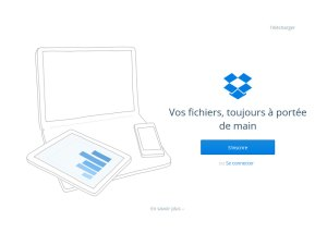 Le site de Dropbox.