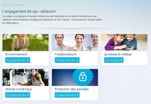 UPC Cablecom s'engage.