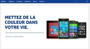 Microsoft a mis en ligne le nouveau site de Nokia qu'il vient de racheter.